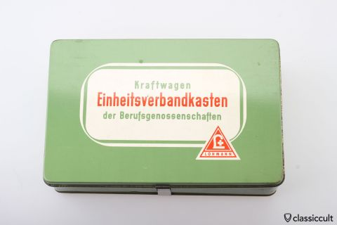 Vintage German Car first aid kit box