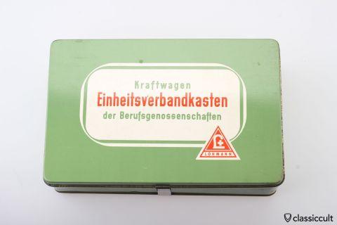 Vintage German Car first aid kit box