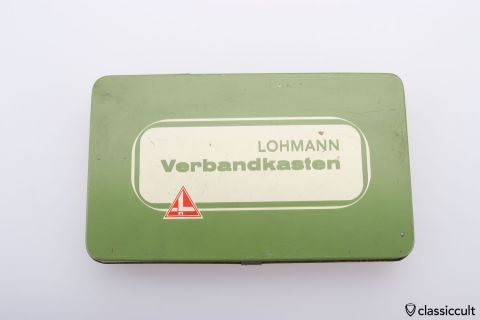 Lohmann Germany first aid tin box 60ies