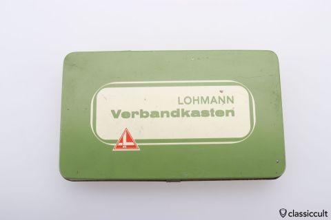Lohmann Germany first aid tin box 60ies