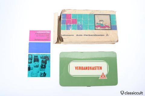 German Lohmann First Aid kit NOS with BOX 60ies WOW