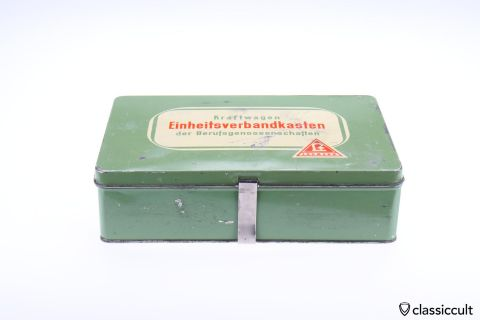 vintage Lohmann car first aid box 60ies