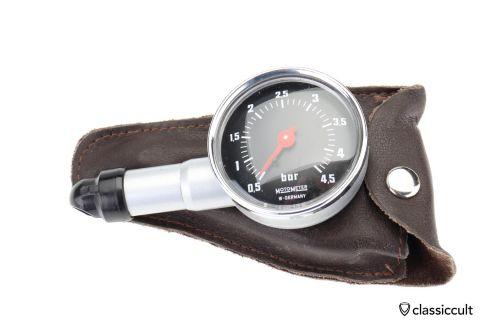 black face Motometer 4,5 bar air gauge