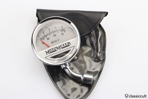 MotoMeter chrome tire gauge W. Germany