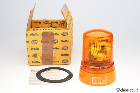 Hella KL70 beacon orange 12V light NOS