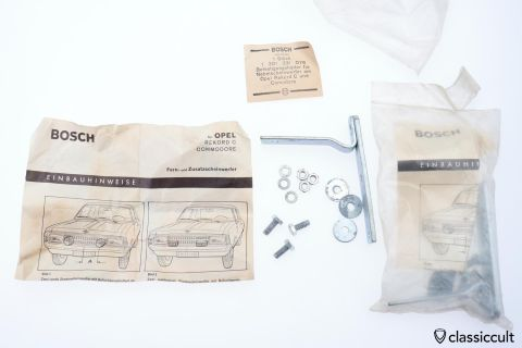 Opel Rekord C Commodore Bosch foglight brackets NOS