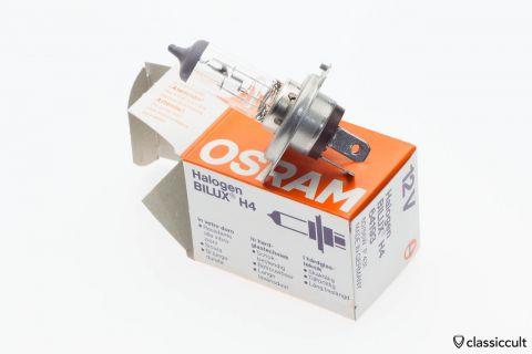 Osram H4 Bilux 60/55W P43t 64193 12V Light Bulb NOS