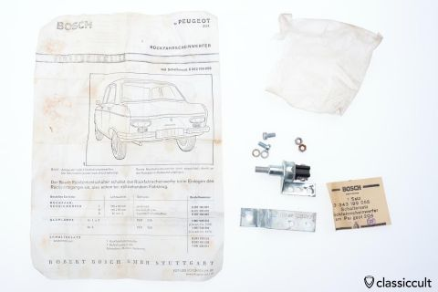 Peugeot 204 Bosch reverse light switch 1968 NOS