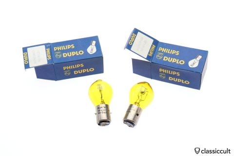 yellow Philips bulb 12V 45W NOS