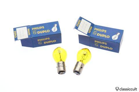 yellow Philips bulb 12V 45W NOS