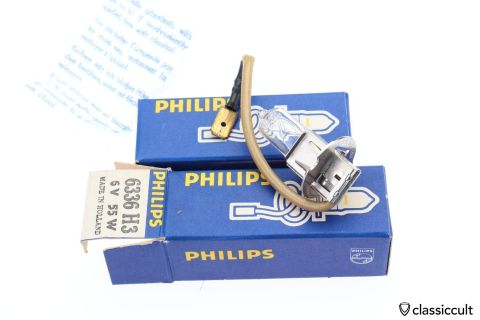 H3 Philips 6V 55W bulb NOS