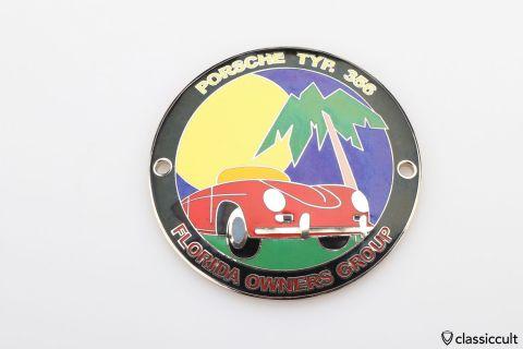 Porsche 356 Badge Florida Owners Group