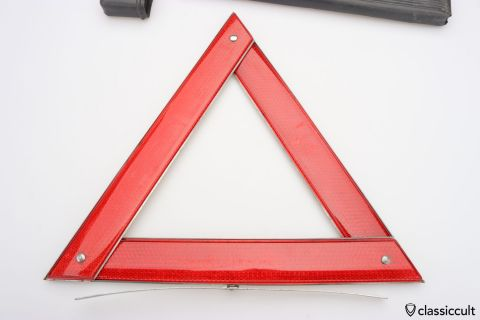 Reflective warning triangle 70ies