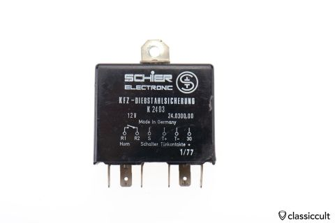 Schier Electronic anti theft car relay Germany 1977