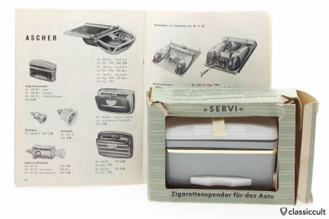 GHE SERVI Cigarette Dispenser VW Oval Bug NOS