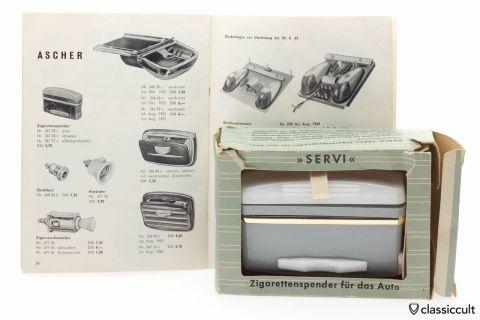 GHE SERVI Cigarette Dispenser VW Oval Bug NOS