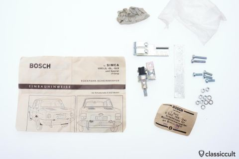 Simca 1000 LS GL Bosch backup light switch 1969 NOS