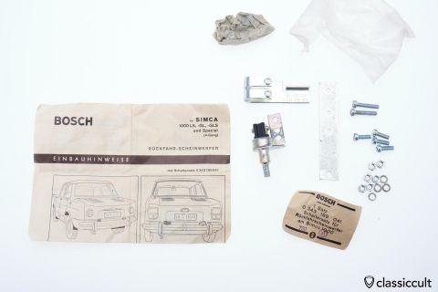 Simca 1000 LS GL Bosch backup light switch 1969 NOS
