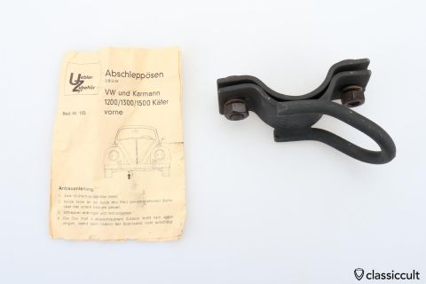 VW Beetle Karmann tow hook NOS