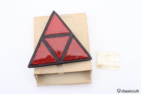 ULO triangle trailer reflector K13469 NOS