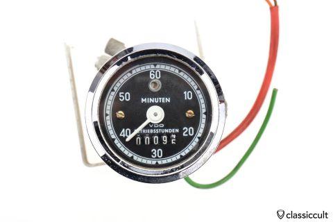 VDO Stunden Minuten hour minute count 6V Gauge 1973