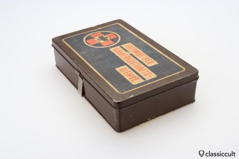 Vintage ADAC Kamerad first aid tin box