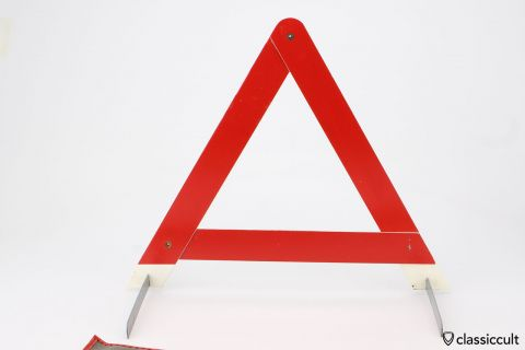 Vintage ADAC EAGLE warning triangle