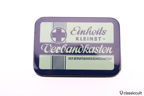 small German Einheits First Aid Tin Box