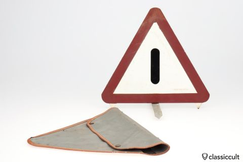 vintage German car road warn triangle