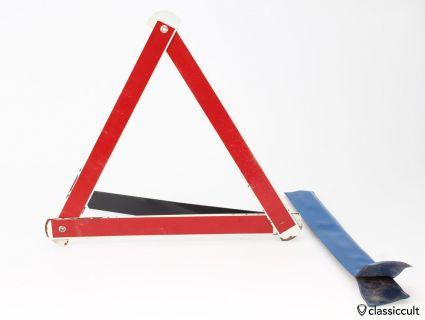 Vintage German Emergency warning triangle