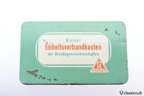 vintage Lohmann first aid kit tin box