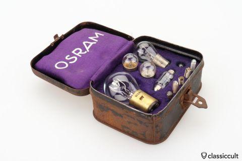 Vintage 6V Osram bulb reserve kit box