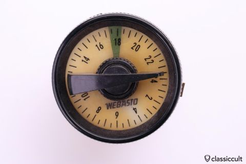 Vintage WEBASTO 0894 heater timer gauge
