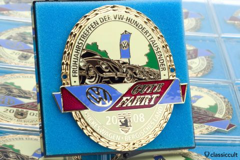 VW Beetle 100.000 km meeting badge Hueckeswagen 2008