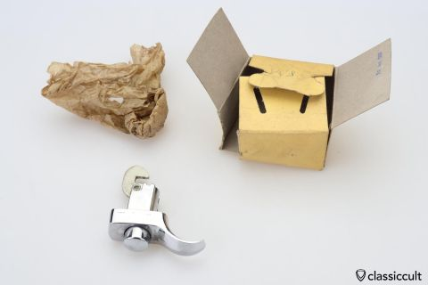 VW Bug deck lid handle non lock NOS