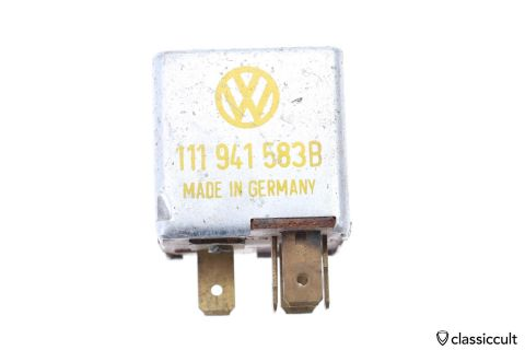 VW # 111941583B SWF 6V 150W relay
