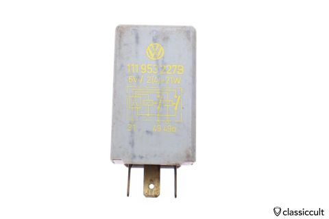 6V flasher relay VW # 111953227B Hella 4DB002478-07