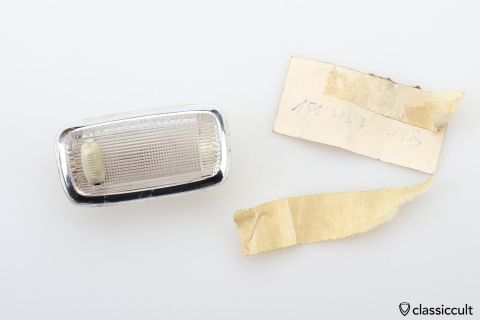 VW Bug Convertible dome light # 151947111B NOS