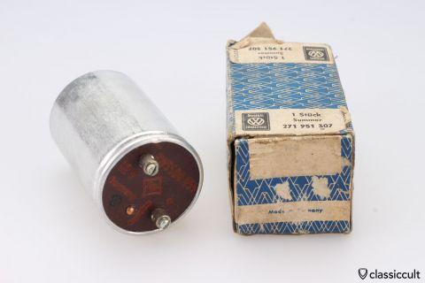 VW light buzzer relay # 271951307 NOS