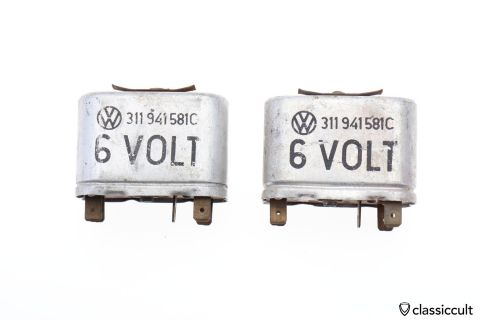 VW Beetle 6V relay # 311941581C SWF Germany