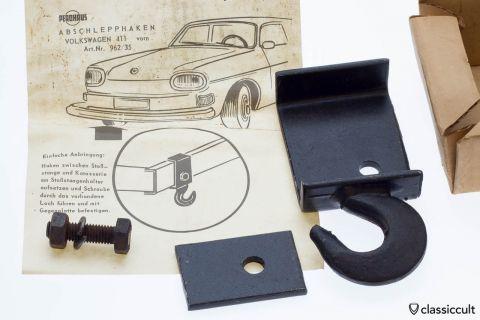 VW 411 Tow Hook Abschlepphaken Perohaus NOS