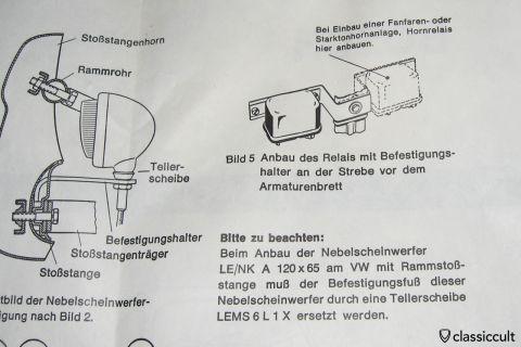 Bosch relay bracket for VW Beetle NOS