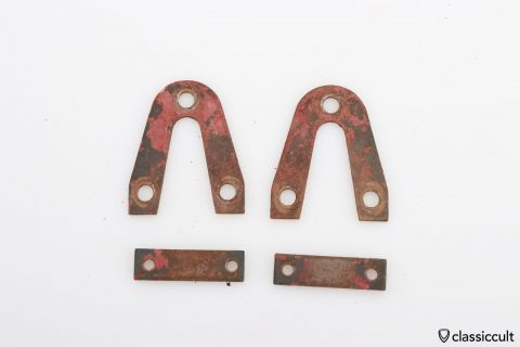 VW Beetle decklid hinges spacers