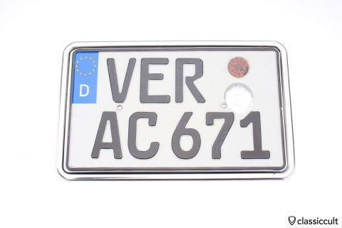 German VW Beetle license plate frame