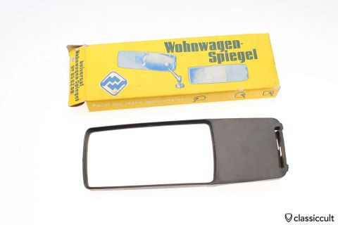 VW Beetle Type 3 caravan mirror black NOS