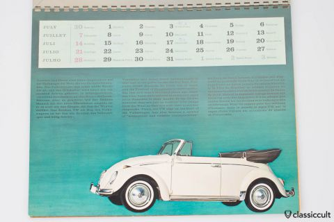 VW Dealer Calendar German Autohaus about 1960