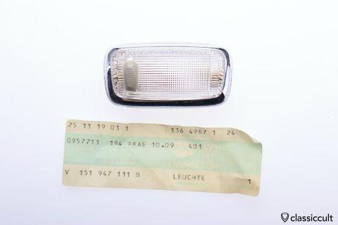 VW Karmann Ghia Beetle Dome light # 151947111B NOS
