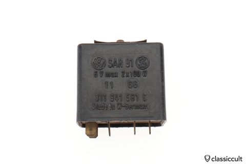 VW 6V relay SAR 91 # 311941581C Germany 1966