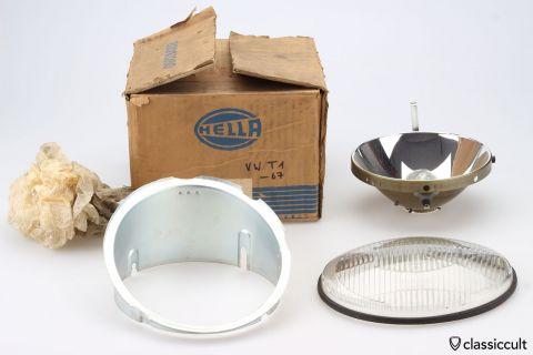 VW T1 Bus Bosch headlight parts NOS
