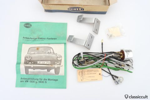 VW Type 3 Hella Fanfare mount kit NOS